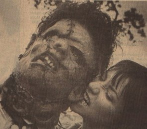biting Leatherface