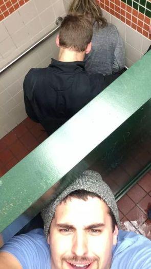 Over stall selfie
