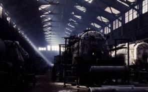 Santa Fe R.R. locomotive shop