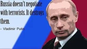 Russia destroys terrorists