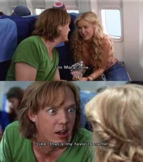 Shaggy loves Mary Jane.