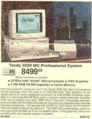 Old tandy ad