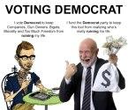 Voting Democrat