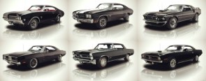 Six Black Cars