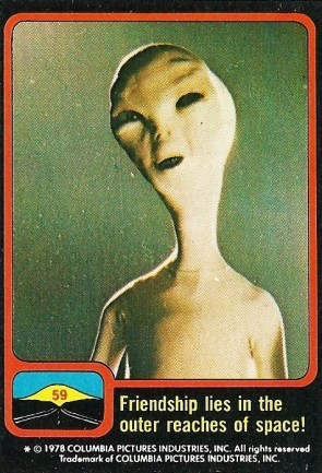 Vintage Close Encounters Bubble Gum Card