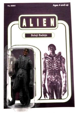 Bolaji Badejo in Alien costume