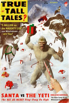 Santa vs The Yeti.