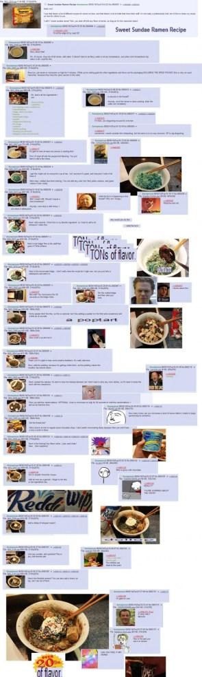 Sweet sundae ramen recipe