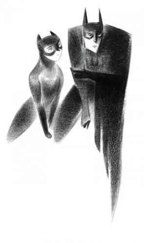 Artsy Batman & Catwoman