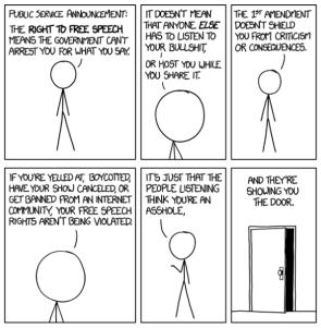 xkcd – free speech