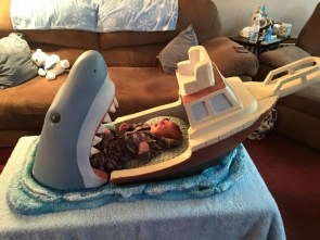 Jaws Inspired Baby Bed
