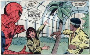 Mary Jane saves Spider-Man & Power Man from being killed by a coconut