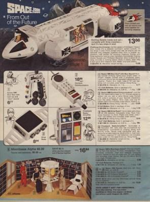 Space: 1999 vintage toy advertisement