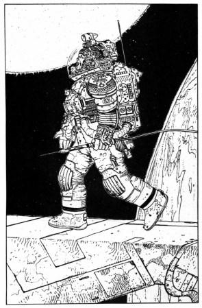 Alien concept art by Moebius