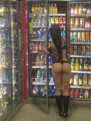 at the liquor store