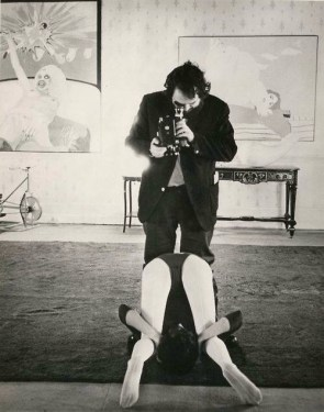 Kubrick filming Clockwork Orange