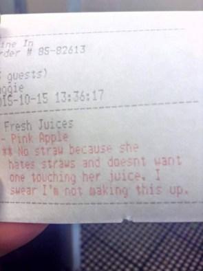 …and definitely no straw