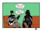 Wayne and Darth