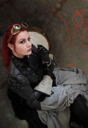 Cute steampunk girl