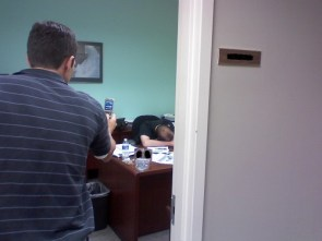 asleep at work