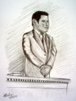 Official Courtroom Sketch of John Travolta