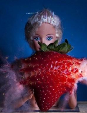 Exploding Barbie Fruit Rack