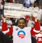 Obama Wins Stanley Cup