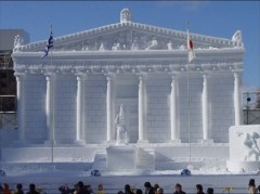 Awesome snow and ice sculptures