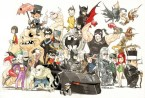 Chibi Batman Character Collage