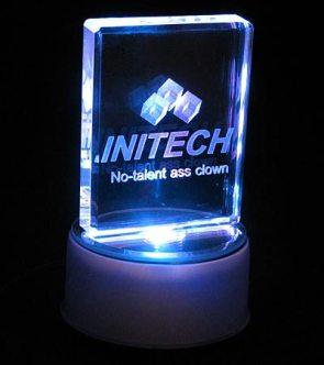 Office space initech no-talent ass clown award