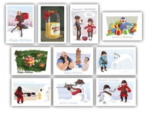 Team Fortress 2 Christmas cards