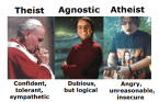 Difference Between Theists, Agnostics and Atheists