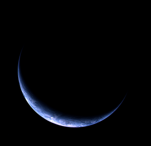 Crescent Earth from the Departing Rosetta Spacecraft