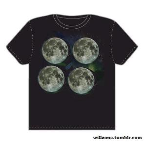 Three Moon with Moon T-Shirt