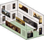 Distribution of Black Paintings