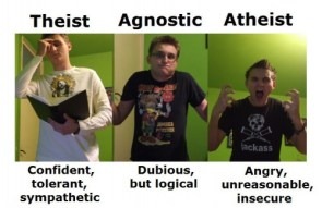 Difference Between Theists, Agnostics and Atheists (lamb version)