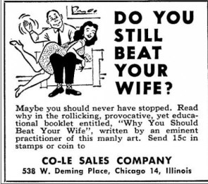 Do you still beat your wife?