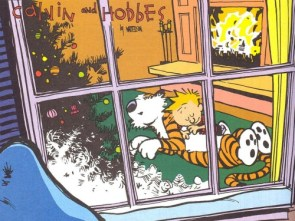 Calvin and Hobbes Christmas Wallpaper