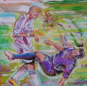 Zidane Headbutt Painting