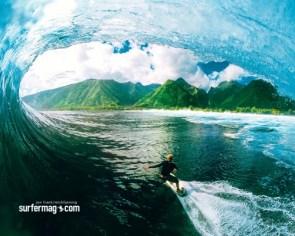 Mick Fanning At Teahupoo Tahiti