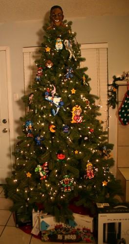 Old School Gamer Christmas Tree