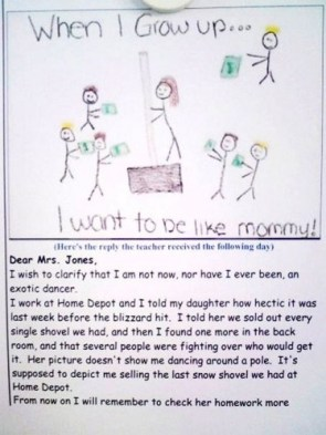 When I grow up… I want to be like mommy!