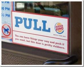 Burger King: Pull