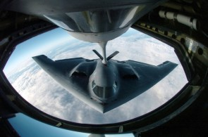 Stealth Bomber Mid Air Refueling
