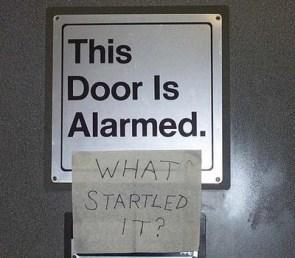 Alarmed Door