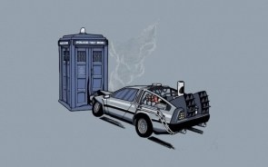 The doctor meets a delorean