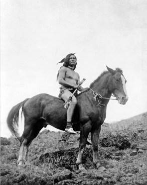 Nez Perce Warrior On Horseback
