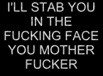 I'll Stab You in the …