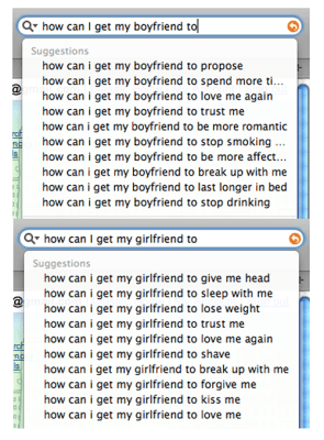 What Girlfriends And Boyfriends Search For On Google
