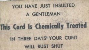 Gentleman`s Business Card